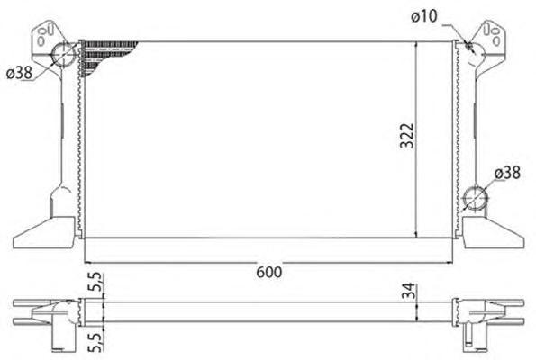 350213513003 BMQ513 Радиатор FORD TRANSIT