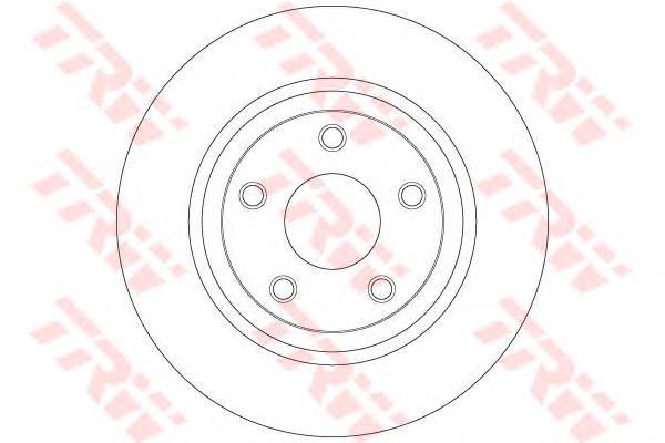 DF6492 Диск тормозной JEEP GRAND CHEROKEE IV 10- задний D=330мм.