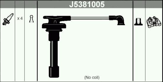 J5381005 Провода в/в NISSAN ALMERA 1.4-1.6 16V
