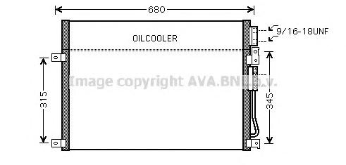 JEA5045 Конденсер JEEP COMMANDER / GRAND CHEROKEE 3.0D/3.7-5.7 05-10