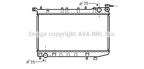 DN2174 Радиатор NISSAN ALMERA 1.4/1.6 95-00