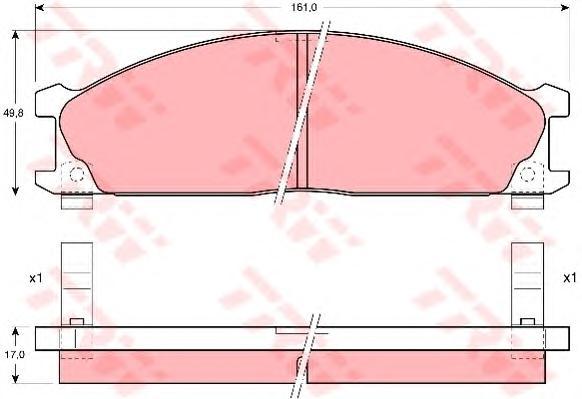 GDB766 Колодки тормозные дисковые передн NISSAN: PICK UP 98-, TERRANO I 90-95, VANETTE автобус 86-95,  SUBARU: SVX 92-97