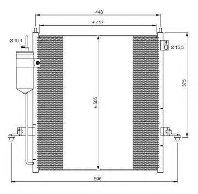 35871 Конденсер MI L200 2.5DI-D 11.05-