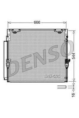 DCN50036 Радиатор кондиционера TOYOTA: LAND CRUISER 4.5 - 4.7