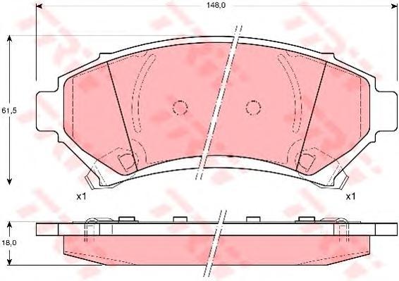 GDB1308 Колодки тормозные OPEL SINTRA 2.2-3.0 96-99 передние
