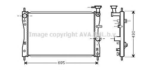 MT2172 Радиатор системы охлаждения MITSUBISHI: COLT CZC кабрио 1.5 06 - , COLT VI 1.1/1.3/1.5 04 -   SMART: FORFOUR 1.1/1.1 (454