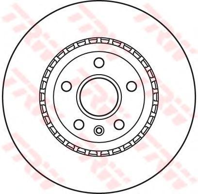 "DF6113S Диск тормозной OPEL INSIGNIA 08-/SAAB 9-5 10- R18"" передний вент.D=337мм."