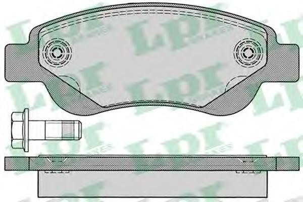 05P1235 Колодки тормозные CITROEN C1/PEUGEOT 107/TOYOTA AYGO 1.0/1.4D 05- передние