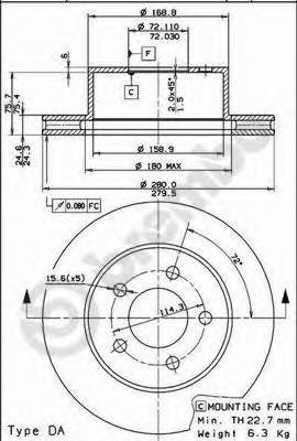 09742180 Диск тормозной передн JEEP: CHEROKEE 88-, GRAND CHEROKEE I 91-99, WRANGLER I 88-96, WRANGLER II 96-
