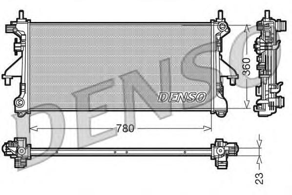 DRM21100 Радиатор системы охлаждения CITROEN: JUMPER c бортовой платформой/ходовая часть 2.2 HDi 100/2.2 HDi 120 06 - , JUMPER c
