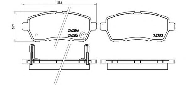 P16013 Колодки тормозные FORD FIESTA 08-/MAZDA 2 07- передние