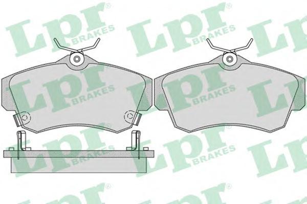 05P1061 Колодки тормозные CHRYSLER PT CRUISER 1.6-2.4 00- передние