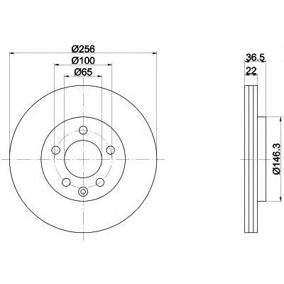 mdc1019 Тормозной диск