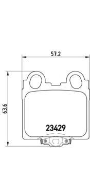 P83045 Колодки тормозные LEXUS GS 3.0-4.3 97-/IS 2.0-3.0 99- задние