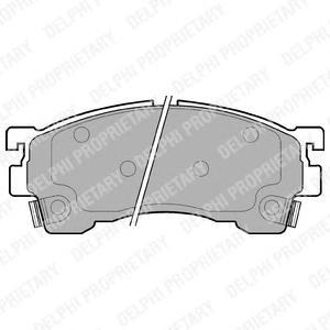 LP801 Колодки тормозные MAZDA 323/626/PREMACY 92- передние
