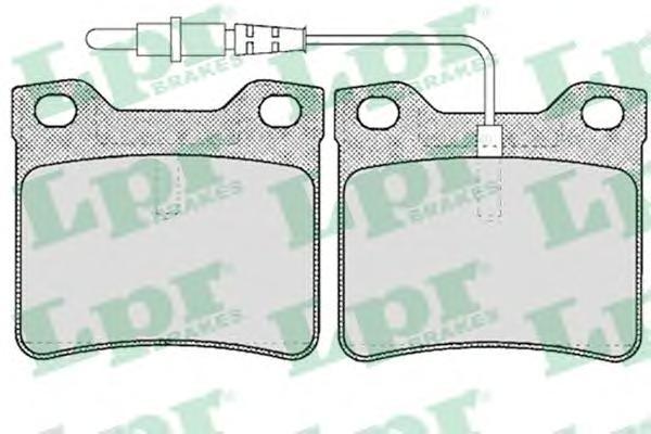 05P623 Колодки тормозные PEUGEOT 406 1.6-3.0 95-04/607 2.0-3.0 00- задние