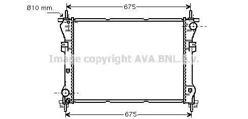 FD2319 Радиатор FORD TRANSIT 2.4D 00-