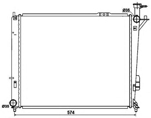 53174 Радиатор HY Santa FE II,III 2.0/2.2 CRDi 10-