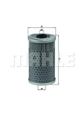 OX34D Фильтр масляный MB W201 M102 -9/84
