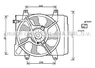 KA7520 Вентилятор радиатора KIA PICANTO 1.0/1.1 04-