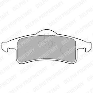 LP1558 Колодки тормозные JEEP CHEROKEE 88-01/GRAND CHEROKEE 99-05 задние