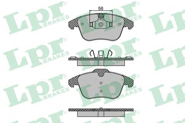 05P1480 Колодки тормозные CITROEN C4 PICASSO/DS4/PEUGEOT 5008 1.6-2.0 06- передние