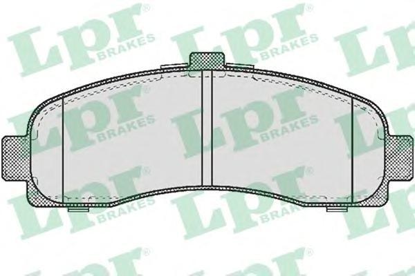 05P539 Колодки тормозные NISSAN MICRA 1.0-1.5D 92-03 передние