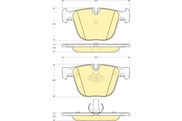 6115022 Колодки тормозные BMW E60/E61/E65/E66/E70/E71 задние