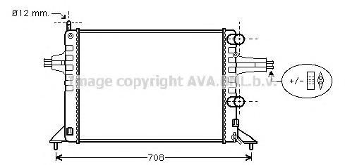 OL2257 Радиатор OPEL ASTRA G 1,2 98-00