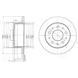 BG3923 Диск тормозной CITROEN JUMPER/FIAT DUCATO/PEUGEOT BOXER 94- задний D=280мм.