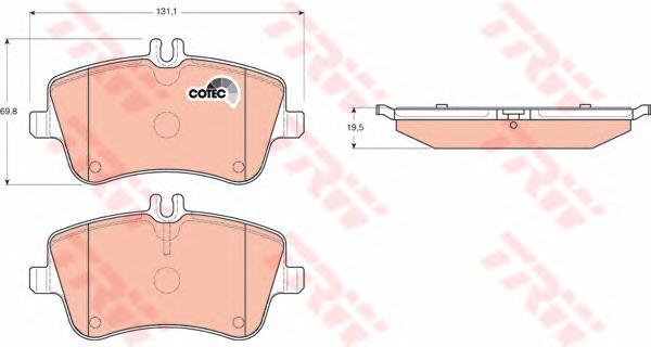 GDB1413 Колодки тормозные MERCEDES W203/209 00- передние