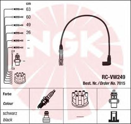 7015 Провода в/в G4/PASSAT/TOURAN 1.6-2.0