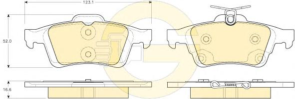 6119382 Колодки тормозные FORD FOCUS II/III/MAZDA 3/OPEL VECTRA C/VOLVO S40 задние