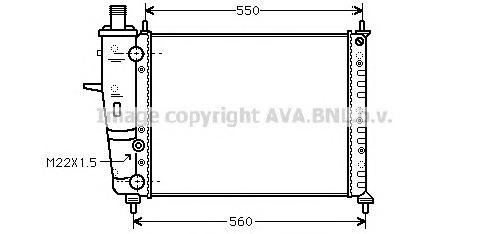 FT2160 Радиатор системы охлаждения FIAT: BRAVA (182) 1.6 16V (182.BB)/1.6 16V (182.BH) 95 - 01 , BRAVO (182) 1.6 16V (182.AB)/1.
