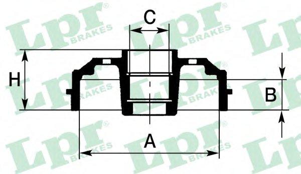 PDR1092 Барабан тормозной задн MAZDA: 626 III 87-92, 626 III Hatchback 87-92, 626 III Station Wagon 87-97, 626 III купе 87-91