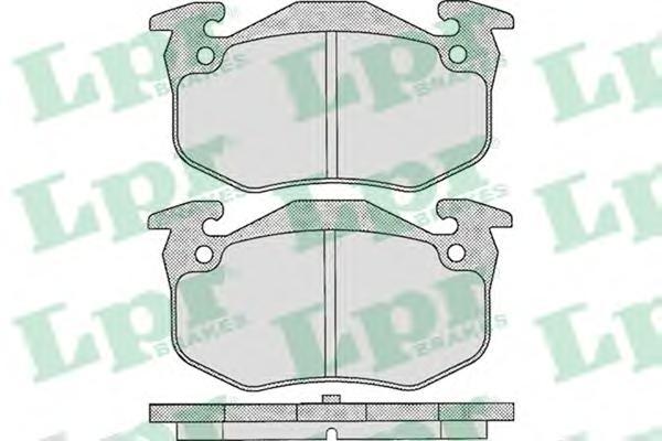 05P307 Колодки тормозные CITROEN XSARA 97-05/PEUGEOT 206/RENAULT MEGANE I/CLIO I задние