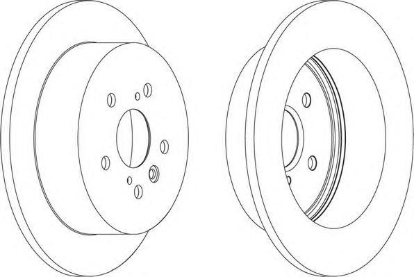 DDF1380 Диск тормозной TOYOTA AVENSIS VERSO 2.0 01-/PREVIA 00- задний D=291мм.