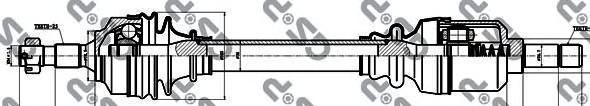 245126 Привод в сборе CITROEN BERLINGO I-II/C4/PEUGEOT PARTNER/307 1.4-2.0 00- лев.