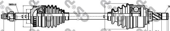 244026 Привод в сборе OPEL CORSA C/COMBO 1.0-1.8 00- прав. +ABS