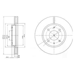 BG4068 Диск тормозной MITSUBISHI GALANT VI 9604/LANCER 03 передний вент.