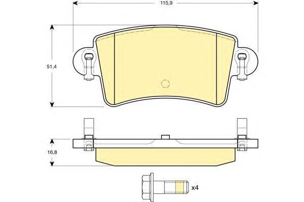 6114704 Колодки тормозные NISSAN INTERSTAR/OPEL MOVANO/RENAULT MASTER 98- задние
