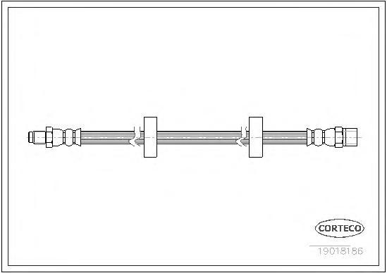 19018186 Шланг тормозной AUDI: 100 1.8/1.8 KAT/1.8 quattro/1.8 quattro KAT/2.0/2.0 D/2.0 D Turbo/2.2/2.2 E Turbo quattro/2.2 E q