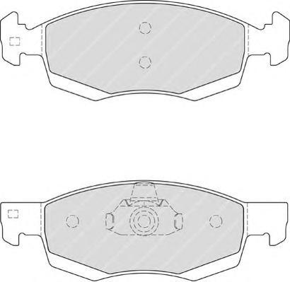 FDB4035 Колодки тормозные RENAULT LOGAN универсал/пикап 06- передние