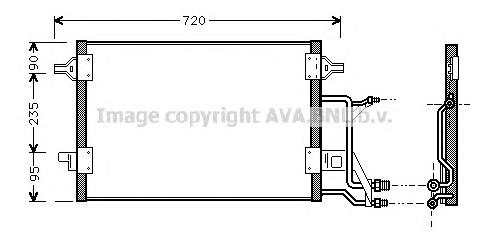 AI5176 Конденсер AUDI A6 1.8-2.8/1.9 TD 97-06
