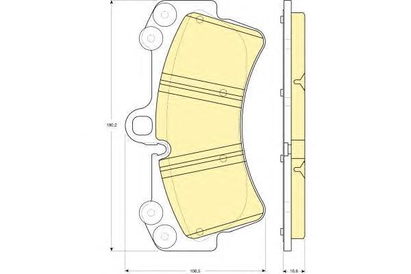 6115489 Колодки тормозные AUDI Q7/VOLKSWAGEN TOUAREG/PORSCHE CAYENNE 02 R18 передние