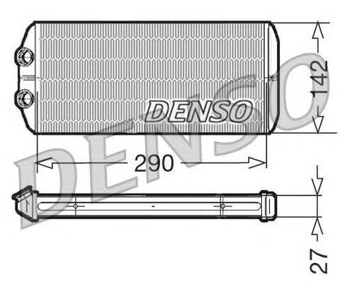 DRR07005 Радиатор отопителя CITROEN: BERLINGO 1.6/1.6 HDi 110/1.6 HDi 75/1.6 HDi 90 08 -  PEUGEOT: PARTNER Tepee 1.6/1.6 HDi 08