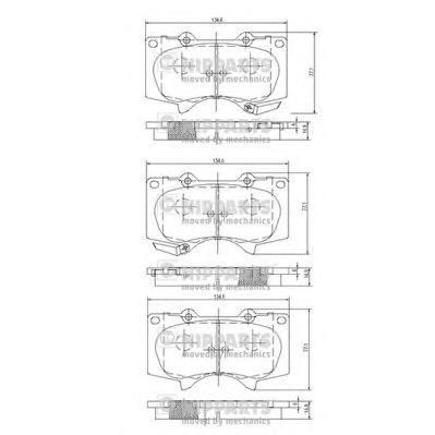 J3602109 Колодки тормозные TOYOTA LC 120 4.0/3.0D/MITSUBISHI PAJERO 06 передние