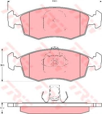 GDB1383 Колодки тормозные дисковые передн FIAT: PALIO 96-, PALIO Weekend 96-, PUNTO 99-, SIENA 04-, STRADA 99-