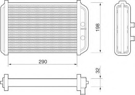 46722710 Радиатор отопит. DUCATO