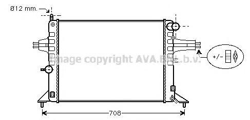 OL2272 Радиатор OPEL ASTRA G 1.4-1.8 98-04